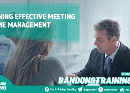Training Effective Meeting & Time Management Bandung Training Center Info Cashback di Pusat Jadwal SDM Terbaru Murah Fix Running
